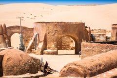 Дома от планеты Tatouine - комплекта фильма Звездных войн, Nefta Туниса Стоковая Фотография