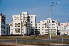 Дома панели Coloful в городе Gomel, Беларуси Стоковые Фото