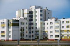 Дома панели Coloful в городе Gomel, Беларуси Стоковое Изображение