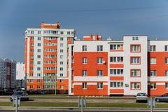 Дома панели Coloful в городе Gomel, Беларуси Стоковые Изображения RF