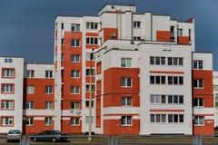 Дома панели Coloful в городе Gomel, Беларуси Стоковое Фото