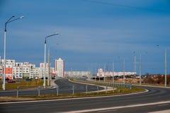 Дома панели Coloful в городе Gomel, Беларуси Стоковые Фотографии RF