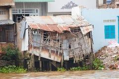 Дома перепада Меконга в Вьетнаме стоковая фотография