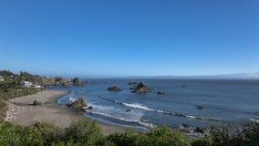 Дома пляжа Калифорнии Стоковые Изображения