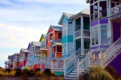 дома пляжа Стоковое Изображение