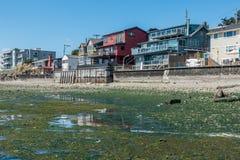 Дома портового района с малой водой Стоковая Фотография RF