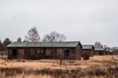 Дома приближают к концентрационному лагерю в Берлине, Германии стоковая фотография