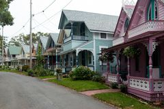 Дома пряника на улице Стоковое Фото