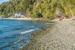 Дома пляжа Seahurst стоковая фотография