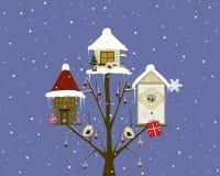 Дома рождества иллюстрация штока
