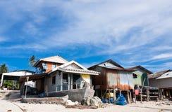 дома рыболова пляжа местные Стоковые Фото