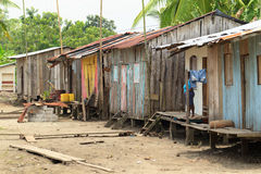 Дома рыболова стоковая фотография