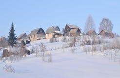 Дома сада в зиме Стоковое фото RF
