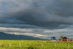 Дома сельской местности вокруг озера Inle, Мьянмы Стоковая Фотография