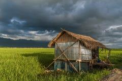 Дома сельской местности вокруг озера Inle, Мьянмы Стоковое Фото