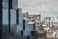 Дома современных и старого стиля в Лондоне Стоковое Изображение RF