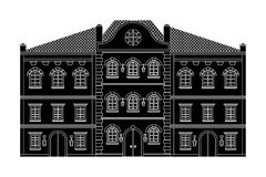 дома старая зданий европейская черный чертеж Стоковое фото RF