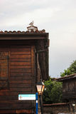 Дома старого городка Sozopol, Болгарии Стоковое Фото