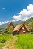 Дома стиля Gassho в деревне Ogimachi, Японии Стоковое Изображение RF