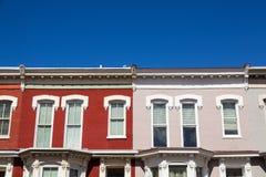 Дома строки в DC Вашингтона Стоковое Изображение