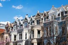 Дома строки в DC Вашингтона Стоковая Фотография