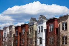 Дома строки в DC Вашингтона Стоковые Фото