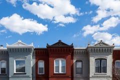 Дома строки в DC Вашингтона Стоковые Изображения