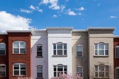 Дома строки в DC Вашингтона Стоковая Фотография RF