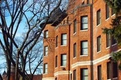 Дома строки красного кирпича в DC Вашингтона, США Стоковые Изображения