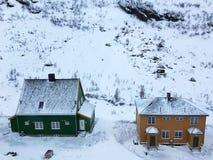 Дома с снегом Стоковое Фото