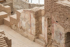 Дома террасы в древнем городе Ephesus Стоковое фото RF