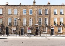 Дома террасы Лондона стоковые фото