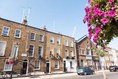 Дома террасы Лондона стоковое фото