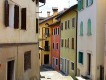Дома улицы Беллуно исторические стоковая фотография
