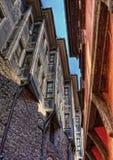 Дома цвета в старом Пловдиве стоковое фото rf