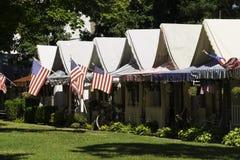 Дома шатра в роще океана, NJ Стоковое Изображение RF
