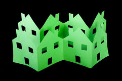 Дома экологичности зеленые Стоковая Фотография RF