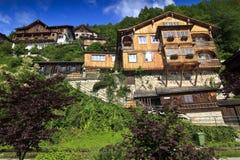 дома alps деревянные Стоковые Фотографии RF