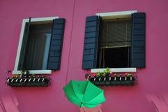 Дома Burano Стоковое Изображение