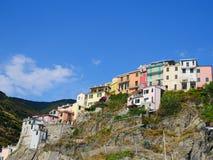 Дома Cinque Terre живые стоковая фотография