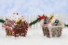 дома gingerbread Стоковые Изображения