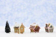 дома gingerbread Стоковые Изображения RF