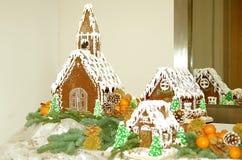 дома gingerbread Стоковые Фотографии RF