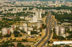 Дома Prefab в Вильнюсе, Литве Стоковое фото RF