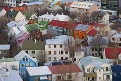 Дома Reykjavik, Исландия Стоковое фото RF