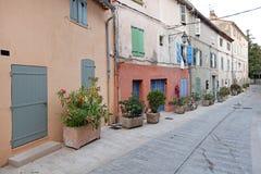 Дома St Tropez стоковые изображения rf