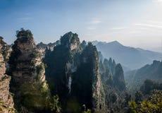 ` Дома Tianbo ` зазора Хунани Zhangjiajie национальное Forest Park Yangjiajie Longquan Стоковая Фотография RF