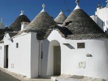 Дома Trulli первоначально построенные без цемента Стоковые Фотографии RF