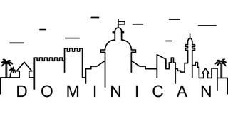 Доминиканский значок плана Смогите быть использовано для сети, логотипа, мобильного приложения, UI, UX иллюстрация штока
