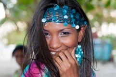 Доминиканский портрет девушки стоковое фото rf